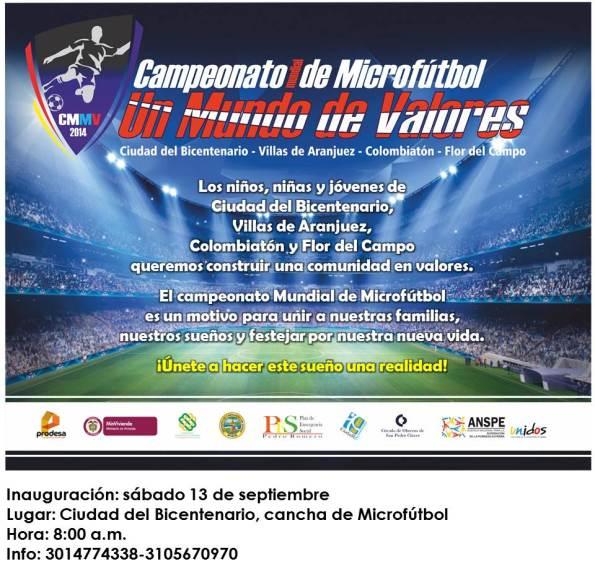 Invitación Campeonato Mundia de Microfutbol